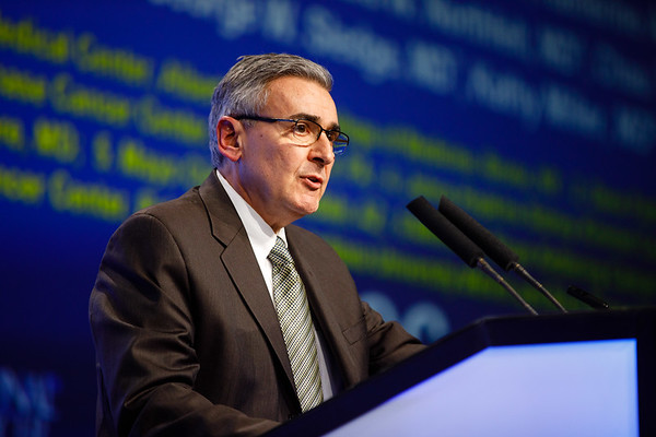 Joseph Sparano, MD, speaks during the General Session