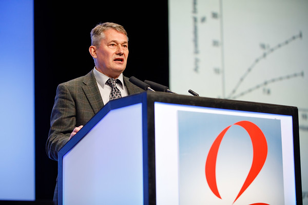 Fredrik Wärnberg, MD, PhD, speaks during the Plenary Session