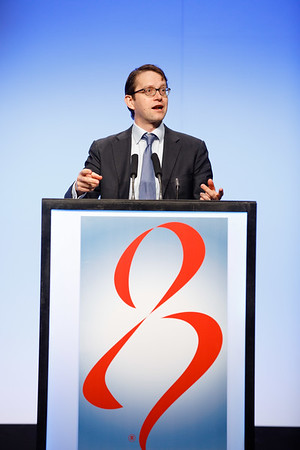 Nicholas C. Turner, PhD, FRCP, BM, MA, speaks during the The Year In Review