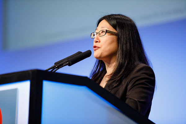 Nancy Lin, MD, speaks during the The Year In Review