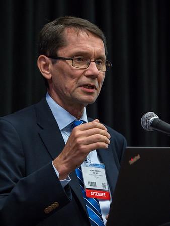 Heikki Joensuu, MD speaks during Thursday morning press conference