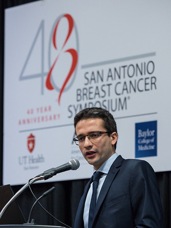 Matteo Lambertini, MD speaks during Thursday morning press conference