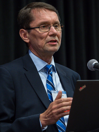 Heikki Joensuu, MD speaks during Thursday morning press conference