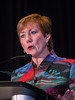 Monica Morrow, MD speaks during the Management Controversies in Locoregional Recurrence Session