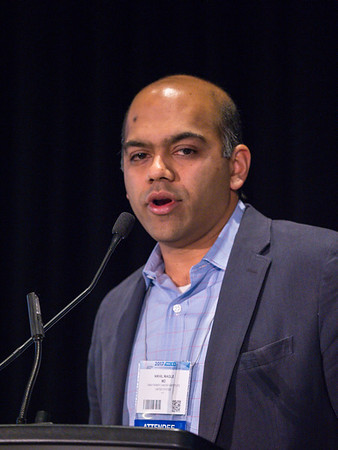 Nikhil Wagle, MD, MD speaks during Workshop: Molecular Biology in Breast Oncology