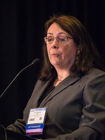 Ruth M. O'Regan, MD speaks during the Education Session: Medical Treatment of HER2+++ Breast Cancer