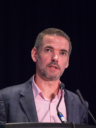 Markus Warmuth, MD speaks during Workshop: Molecular Biology in Breast Oncology