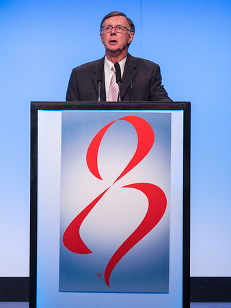 C Kent Osborne, MD speaks during the Opening Plenary Session