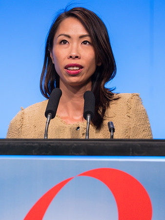 Sherene Loi, MD, PhD speaks during General Session II