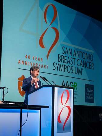 Wolfgang Janni, MD speaks during GENERAL SESSION 1