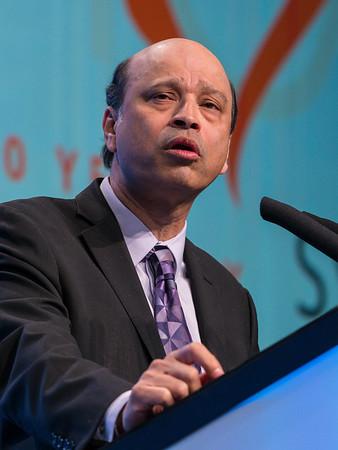 Debu Tripathy, MD speaks during General Session II