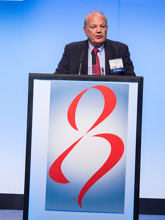 George Sledge, MD speaks during General Session II