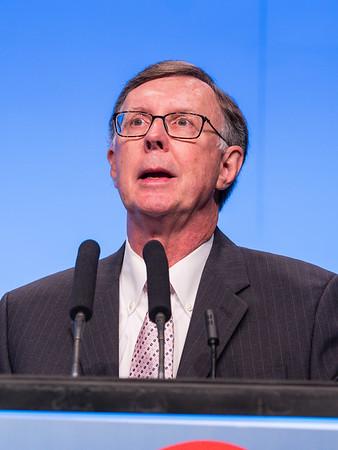C Kent Osborne, MD speaks during the Opening Plenary Session