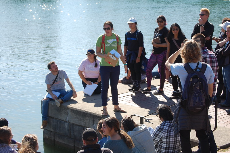 Elizabeth Robbe, Buffalo Niagara Waterkeeper leading tour