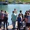 Elizabeth Robbe, Buffalo Niagara Waterkeeper (center) leading tour