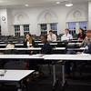 Professor Kellena Kane providing feedback to students