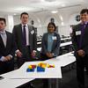 Winning Team - Spectrum Development (from left to right): Michael Stellrecht, Peter DiBiase, Dhwani Shah, Stephen Butzler