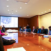 Graduate students present their concepts and recommendations to a panel of facilities and capital investment managers at M&T world headquarters board room