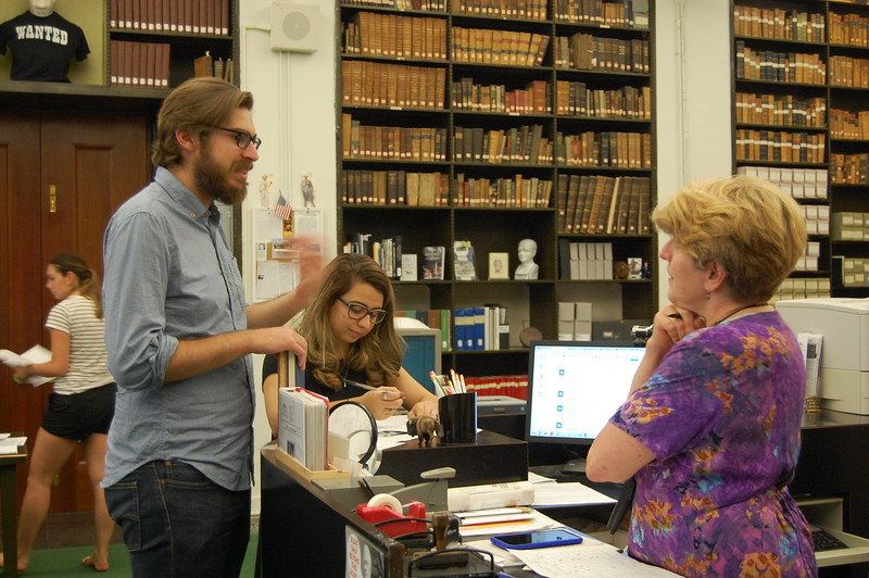 Cynthia M. Van Ness, Director of Library and Archives, Buffalo History Museum Research Library (right)
