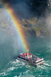 Ship at the end of a rainbow