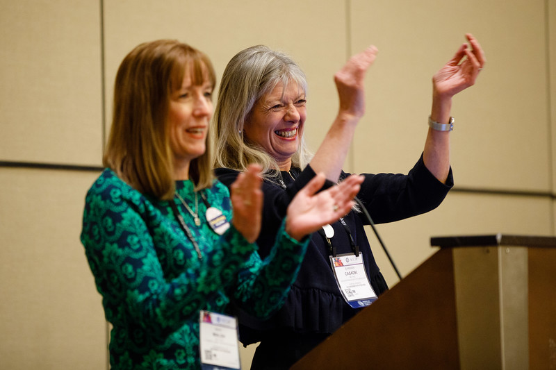 Mary Norine Walsh, MD, MACC, speaks during Women in Cardiology  (WIC) Section Meeting