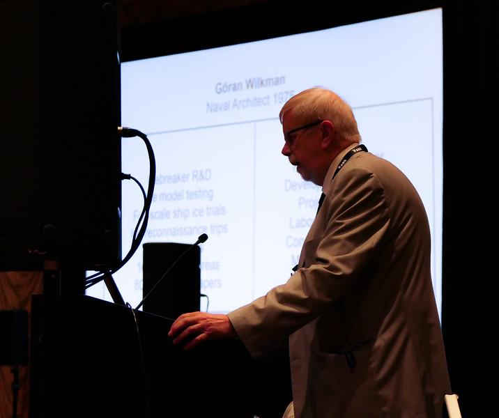 Panelist Goran Wilkman at the Arctic Technology Knowledge Transfer Plenary Panel Session