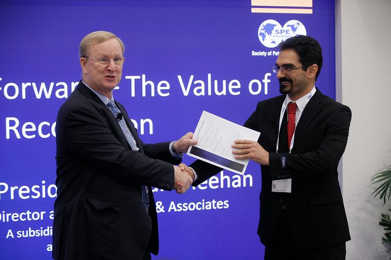 2016 SPE President Nathan Meehan during SPE Pavilion