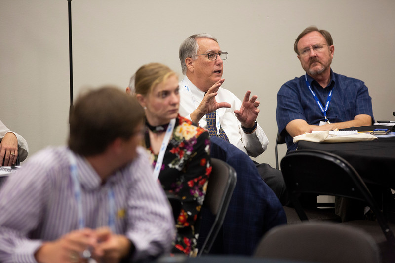 Panelists and attendees during Monday afternoon technical sessions