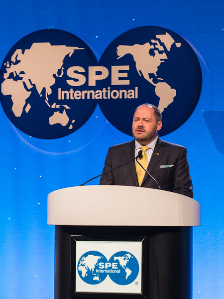 SPE President Darcy Spady during Opening General Session