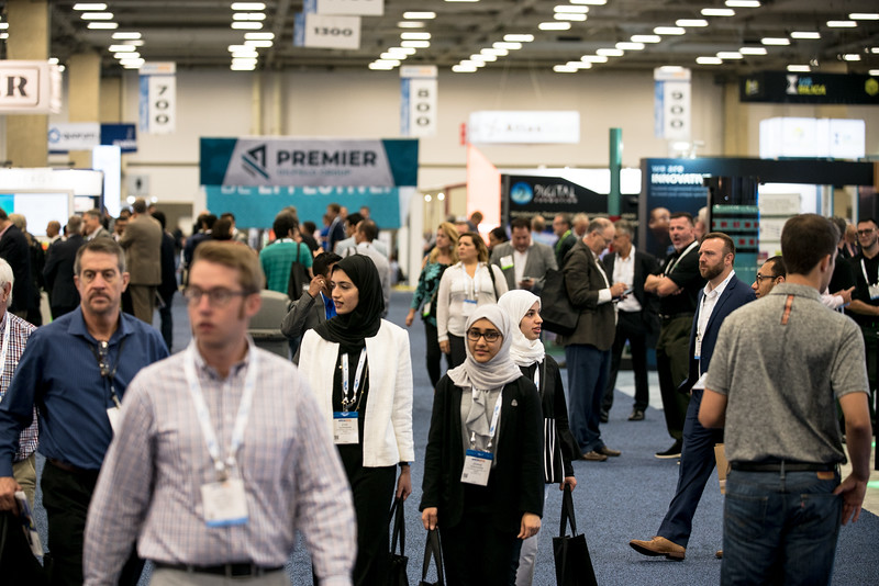 General views during Exhibit Hall opens
