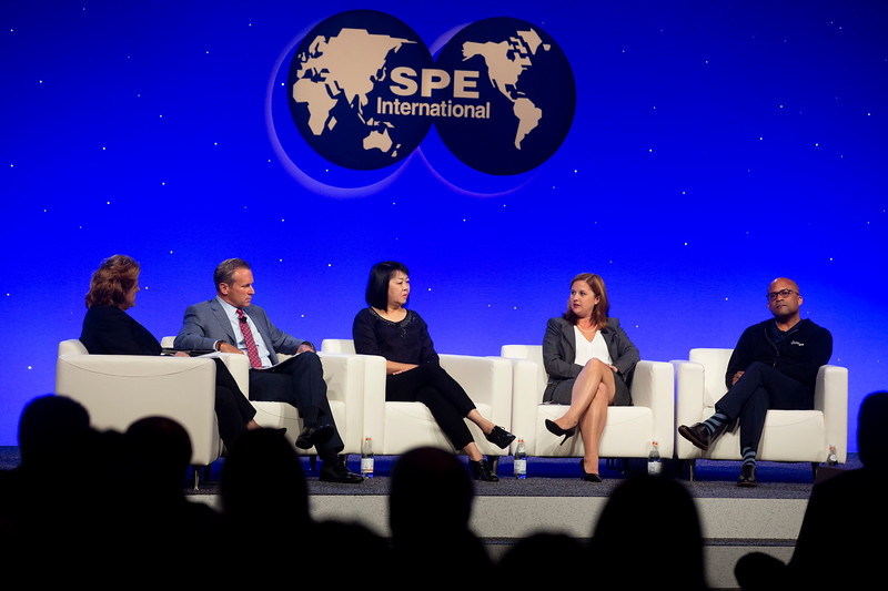 Panelists and attendees during Opening General Session
