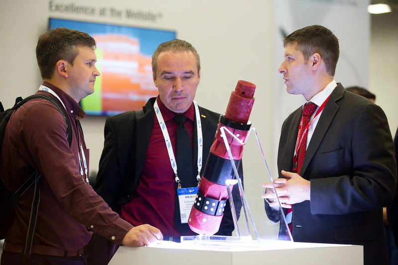 Panelists and attendees during Exhibition