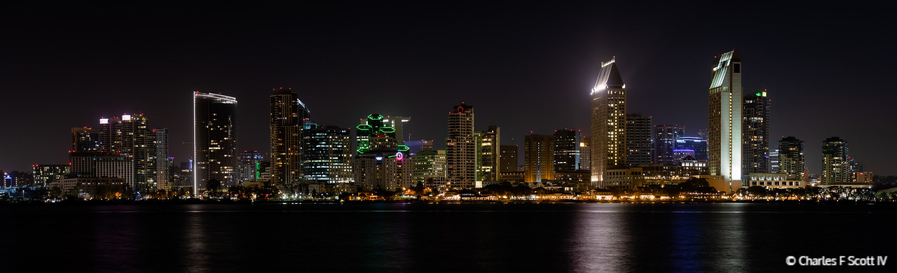 Downtown San Diego as seen from Bay View Park, Coronado, California