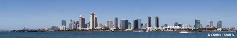 Downtown San Diego as seen from Centennial Park, Coronado, California