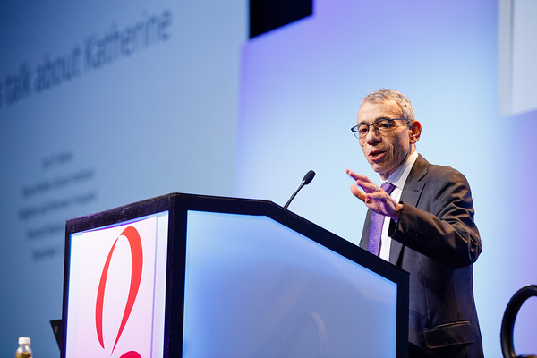 Eric P. Winer, MD, speaks during General Session 1