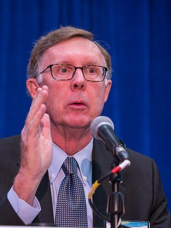 C Kent Osborne, MD, speaks during the morning press conference