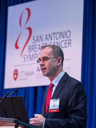 Wolfgang Janni, MD, PhD speaks during the morning press conference