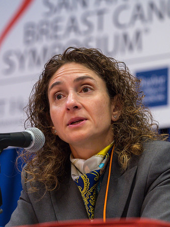 SABCS Co-Chair Virginia G. Kakla during morning press conference