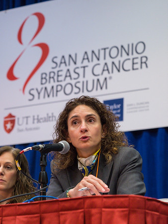 SABCS Co-Chair Virginia G. Kakla during morning press conference