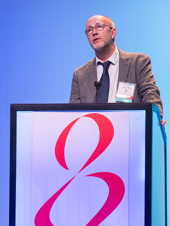 D Dodwell, MD, speaks during GENERAL SESSION 4