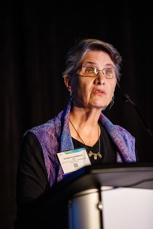 Susan G. Hilsenbeck, PhD, speaks during Clinical Research workshop