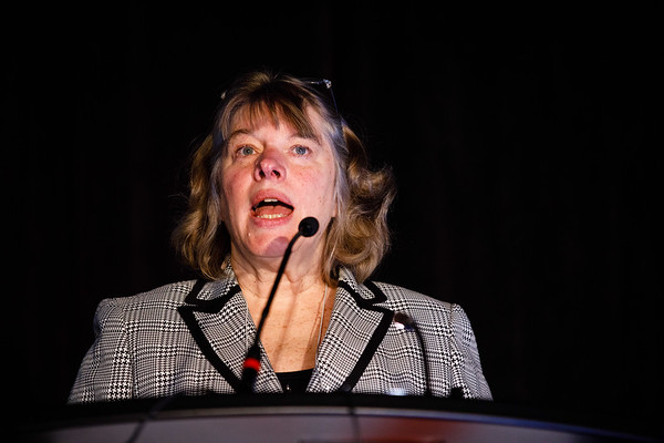 Patricia S. Steeg, PhD, speaks during Contemporary Management of Breast Cancer Brain Metastases