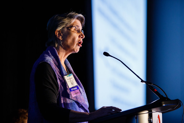 Susan G. Hilsenbeck, PhD, speaks during Clinical Research workshop