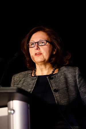Sylvia Adams, MD, speaks during Updates in the Treatment of Triple Negative Breast Cancer