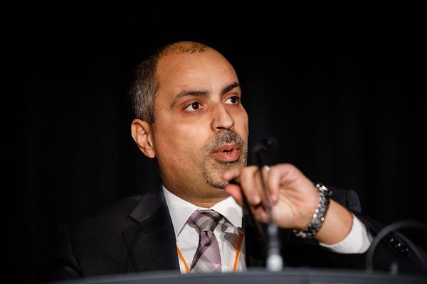 Mothaffar F. Rimawi, MD, speaks during Twenty Years of Targeting HER2: Where Are We Now?