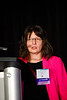 Kornelia Polyak, MD, PhD, speaks during Molecular Biology in Breast Oncology workshop