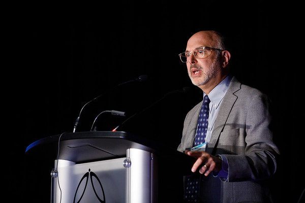 Stuart J. Schnitt, MD, speaks during Twenty Years of Targeting HER2: Where Are We Now?