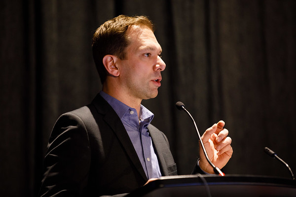 Mathieu Lupien, PhD, speaks during Translational Insights in Estrogen Receptor Signaling and Endocrine Resistance - Bench to Bedside