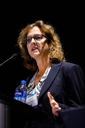 Heide L. Ford, PhD, speaks during Insights and Controversies in Metastasis Biology