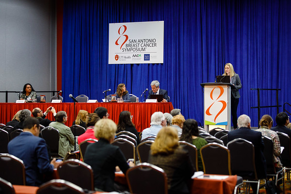 Laura M. Spring, MD, speaks during the afternoon press conference